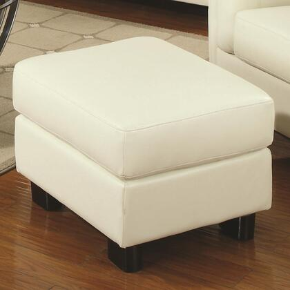 Coaster 504384 Sawyer Series Contemporary Bonded Leather Ottoman
