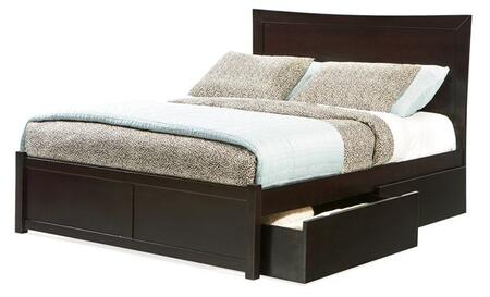 Atlantic Furniture MIAMIFPFKINGES Miami Series  King Size Bed