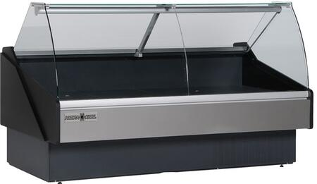 Hydra-Kool KFMCGxR Curved Glass Deli Case with BTU, Designed for Fresh Meat, in Black
