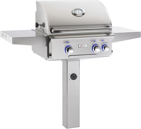 American Outdoor Grill 24NGX Series In-Ground Post Mount Natural Gas Grill with 32,000 BTU's, 432 sq. in. Cooking Surface and 3 Hour Safety Timer in Stainless Steel