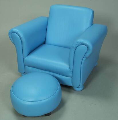 Gift Mark 6705 X Designer Kid Size Upholstered Chair with Ottoman in