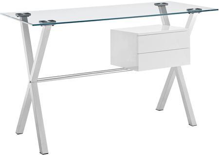Modway EEI1181WHI Modern Standard Office Desk