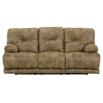 """Catnapper Voyager Collection 88"""" Lay Flat Reclining Sofa with Decorative Stitching, Comfort Coil Standard Cushion, Sewn Tufted Back and Polyester Faux Leather Fabric Upholstery"""