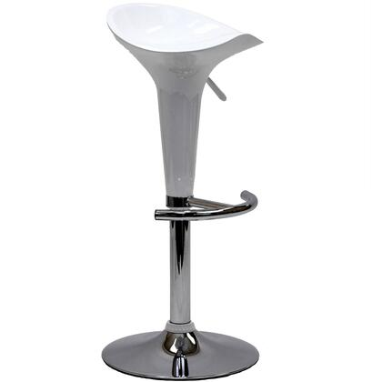Modway EEI577WHI Scoop Series Residential Not Upholstered Bar Stool