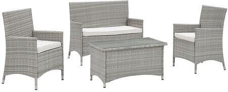 Modway EEI2212LGRWHI Contemporary Patio Sets