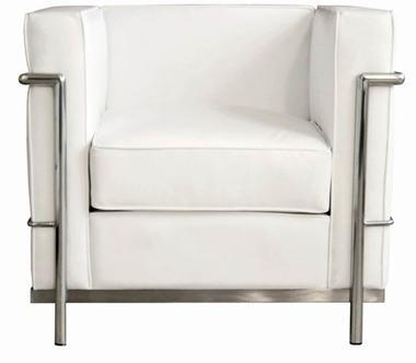 Wholesale Interiors 610CHAIRWHITE Le Corbusier Series  in White