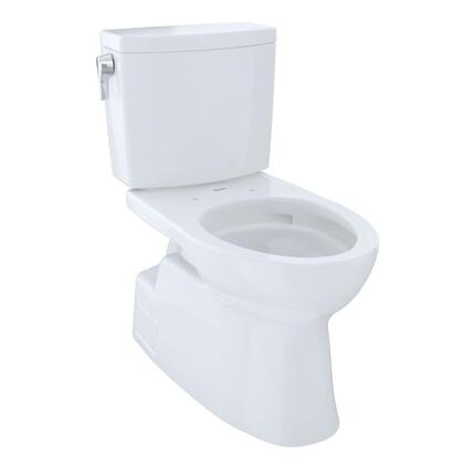 Toto CST474CUFG Vespin II Series Two-Piece Elongated 1G Toilet with Vitreous China Construction, Tornado Flush System, and CeFiONtect Ceramic Glaze