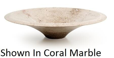 D'Vontz AN4310 Antigua Vessel Sink With Natural Stone Construction, Sleek Streamlined Design & In