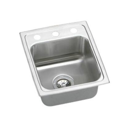 """Elkay LR15170 15"""" Top Mount Single 18-Gauge Single Bowl Stainless Steel Sink"""