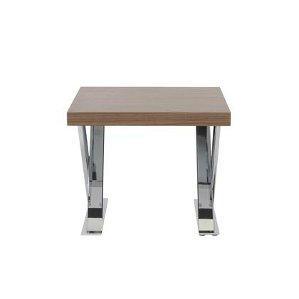 Euro Style 28058WAL Anika Series Contemporary Square 0 Drawers End Table