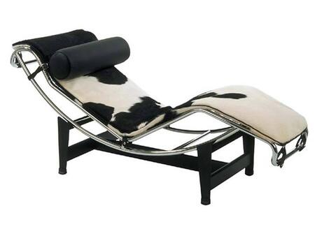 Fine Mod Imports FMI1153 Adjustable Cowhide Chaise Lounge: