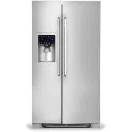 "Electrolux IQ-Touch EI23CS65K 36"" 22.6 Cu. Ft. Counter-Depth Side-by-Side Refrigerator, IQ-Touch Electronic Controls, 9""-Tall External Water/Ice Dispenser, Energy Star Compliant:"