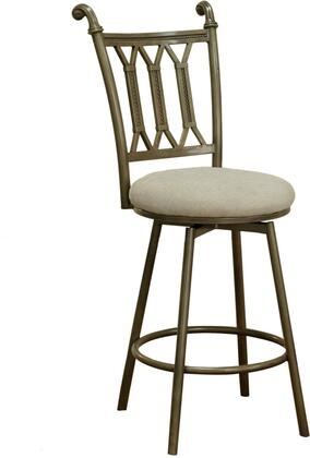 Chintaly Darcy Collection DARCYXXBGE DARCY Side Chair with Powder Coating Metal Construction and Fabric Upholstery in Matt Bronze and Beige Color