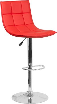 Flash Furniture CH920261REDGG Residential Vinyl Upholstered Bar Stool