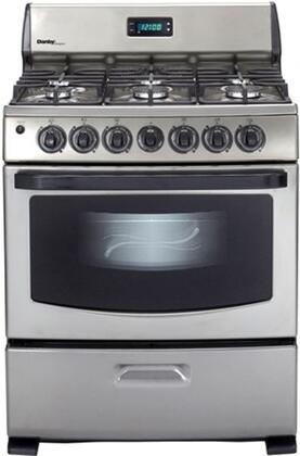 Danby DR399BLSGLP  Gas Freestanding Range with Sealed Burner Cooktop, 4.3 cu. ft. Primary Oven Capacity, Broiler in Stainless Steel