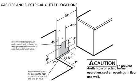 ge cafe cgs990setss 30 caf series slide in gas range sealed ge cafe caf series dimensions diagram