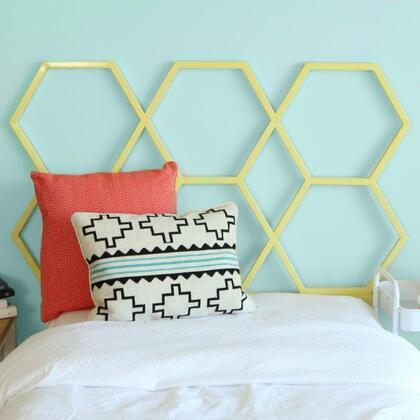 Walker Edison HBTHC1 Honeycomb Twin Size Headboard