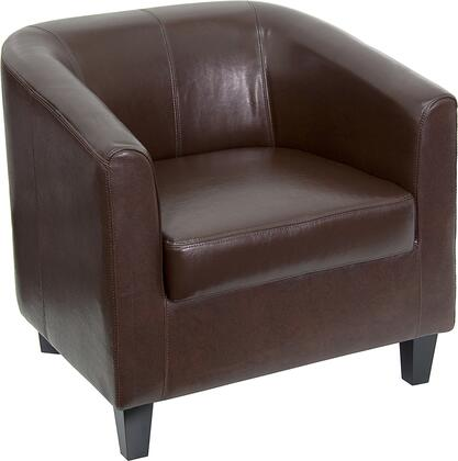 Flash Furniture BT873GG Leather Office Guest Chair / Reception Chair