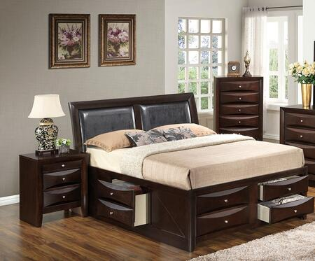 Glory Furniture G1525IQSB4NCH G1525 Queen Bedroom Sets