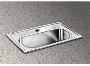 "Elkay LMR2013 20"" Top Mount Self-Rim Single Bowl 18-Gauge Stainless Steel Bar Sink"
