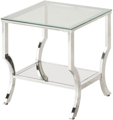 Coaster 720337 Ocassionals Table Series Contemporary Metal Square None Drawers End Table