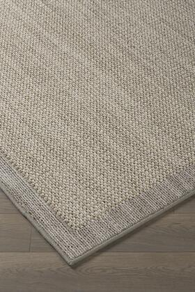 "Milo Italia Lukas RG448711TM "" x "" Size Rug with Border Design, Machine-Tufted, 4mm Pile Height, Spot Clean Only and Polyester Material in Pale Green Color"