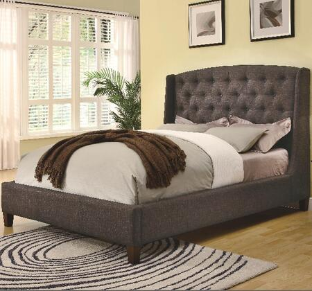 Coaster 300247Q Upholstered Beds Series  Queen Size Platform Bed