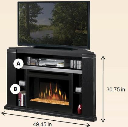 Dimplex GDS25G1154BA Cloverdale Series  Electric Fireplace