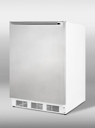 Summit CT66SSHH CT66 Series Compact Refrigerator with 5.3 cu. ft. Capacity in White