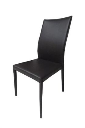 """Casabianca Heritage Collection CB-F3101 38"""" Dining Chair with Eco-Leather Upholstery, Stitched Detailing and Tapered Legs in"""