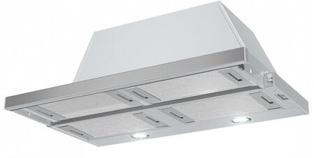 Faber CRISxSSH Cristal Slideout Range Hood with 600 CFM Blower, 3 Speed Slide Control, 2 Halogen Lights, and Aluminum Mesh Grease Filters, in Stainless Steel
