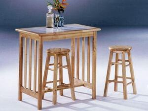 "Acme Furniture 02140N 34"" Mission Living Room Table Set"