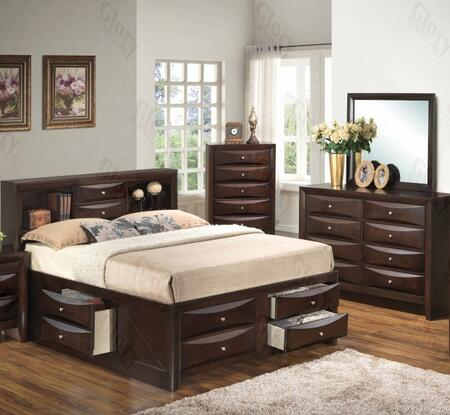Glory Furniture G1525GQSB3DM G1525 Queen Bedroom Sets