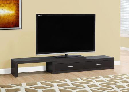 """Monarch I26X 60"""" TV Stand with 2 Drawers, Wood Construction and Asymmetrical Design"""