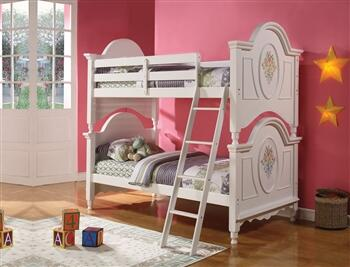 Acme Furniture 01730 Flora Series  Twin Size Bunk Bed