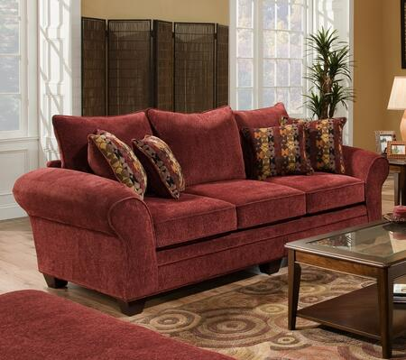 Chelsea Home Furniture 183708 Clearlake Queen Sleeper Sofa with 4 Toss Pillows, 16 Gauge Border Wire, Hi-Density Foam Cores Cushion and Solid Kiln Dried Hardwoods in