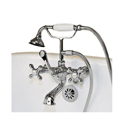 Cambridge CAM463W Clawfoot Tub Wall Mount British Telephone Faucet with Hand Held Shower
