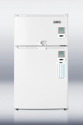 Summit CP35LLF2MED Med Series Freestanding Counter Depth Compact Refrigerator with 2.9 cu.ft. Capacity, 1 Wire ShelfField Reversible Doors