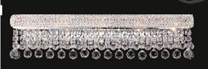 "J & P Crystal Lighting Bangle Collection SP180036W 36"" Wide Wall Light in X Finish"