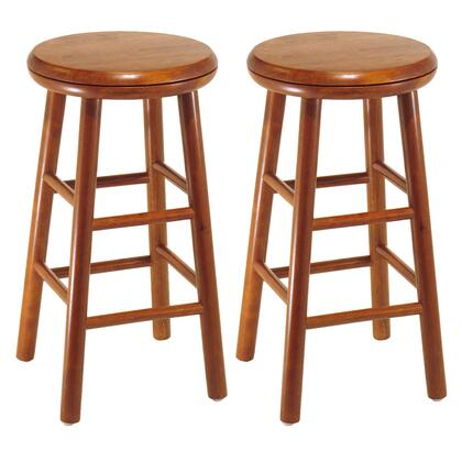 Winsome 7523X Set of 2, Swivel Seat Stool, Assembled in Cherry Finish
