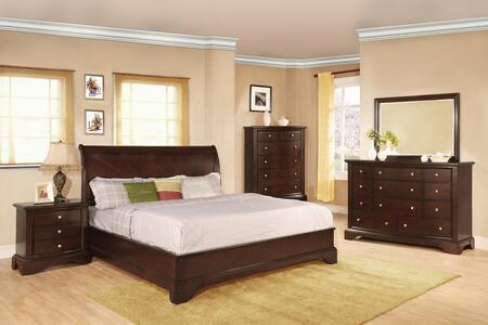 Myco Furniture Century 5 Piece Queen Size Bedroom Set