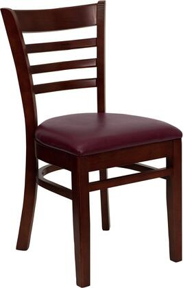 Flash Furniture XUDGW0005LADMAHBURVGG Hercules Series Contemporary Vinyl Wood Frame Dining Room Chair