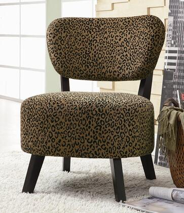 Coaster 900420 Accent Seating Series Armless Fabric Wood Frame Accent Chair