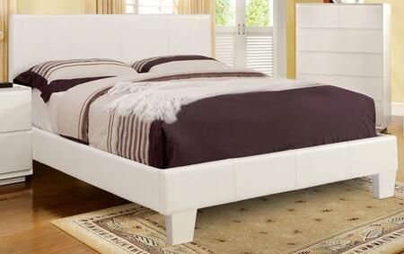 Furniture of America CM7008WHEKBED Winn Park Series  King Size Platform Bed