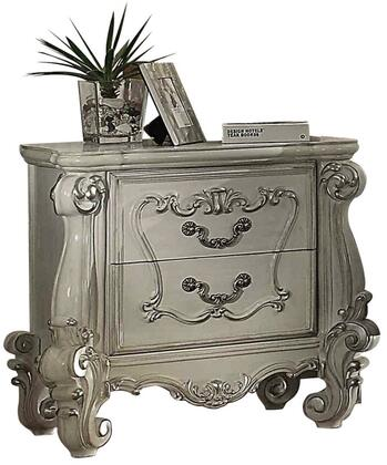 Acme Furniture 21133 Versailles Series Rectangular Wood Night Stand