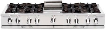 """Capital CGRT604G4L 60"""" Culinarian Series Gas Open Burner Style Cooktop, in Stainless Steel"""