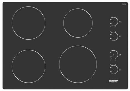 Dacor RNCT304B Renaissance Series Electric Cooktop, in Black