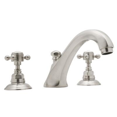 Rohl A1884XM Country Bath Collection 3-Hole Deck Mount Hex Spout Tub Filler, Cross Handles: