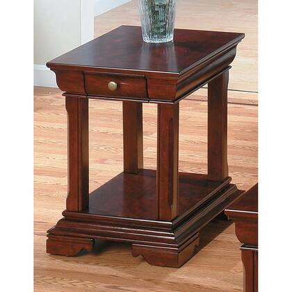 Jofran 2993 Traditional Rectangular 1 Drawers End Table