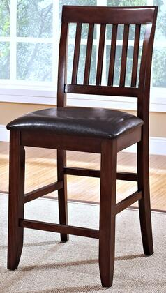 "New Classic Home Furnishings 45-10-20 Kaylee 18"" Counter Chair with Padded Microfiber Web Seat Cushions, Tapered Legs, Hardwood Solids and Veneers, in"